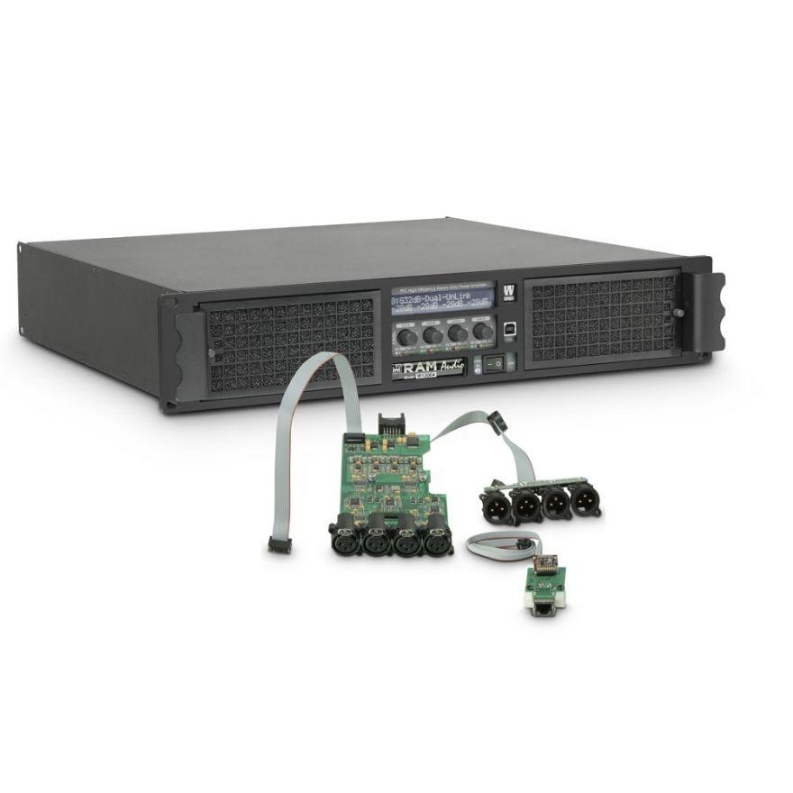 Ram Audio W 12004 DSP E - Finale di potenza PA 4 x 3025 W 2 Ohm incl. modulo DSP + Ethernet