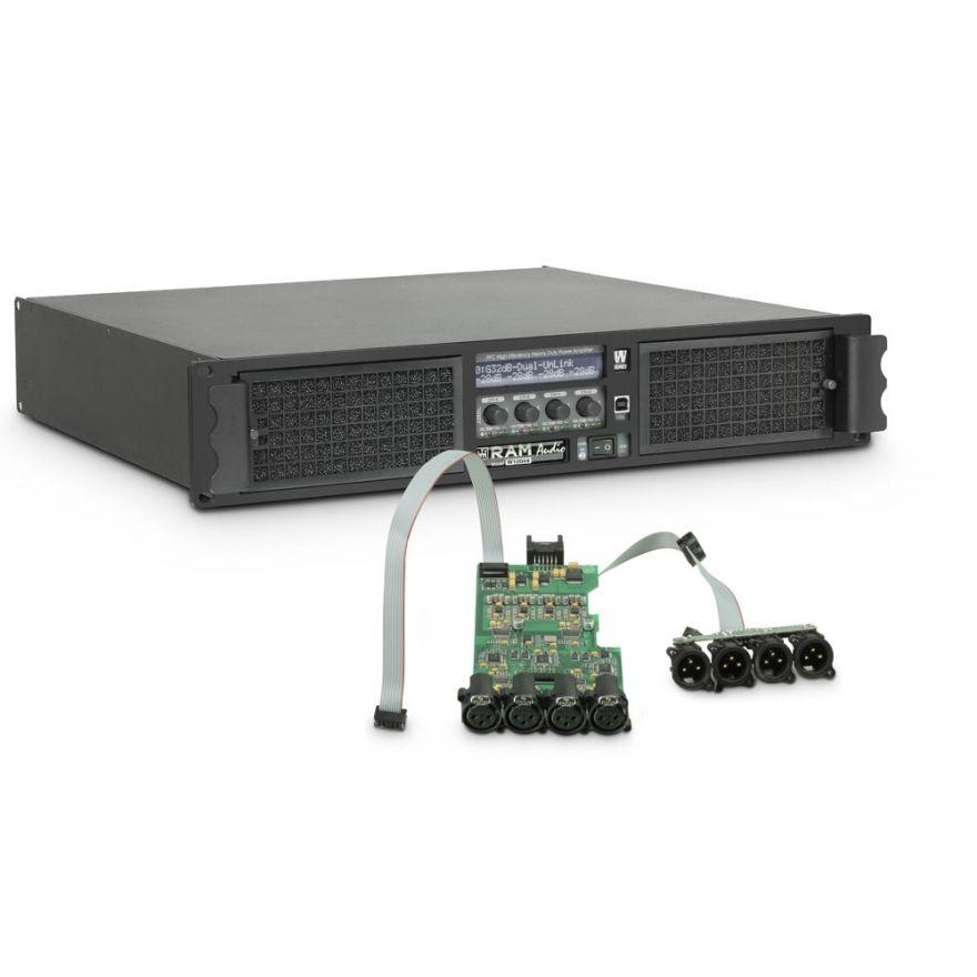 Ram Audio W 12044 DSP - Finale di potenza PA 4 x 2950 W 4 Ohm incl. modulo DSP