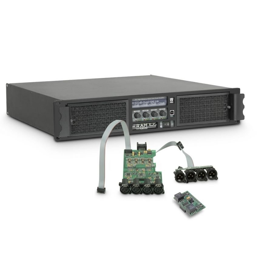 Ram Audio W 12044 DSP AES - Finale di potenza PA 4 x 2950 W 4 Ohm incl. modulo DSP con ingresso digitale AES/EBU