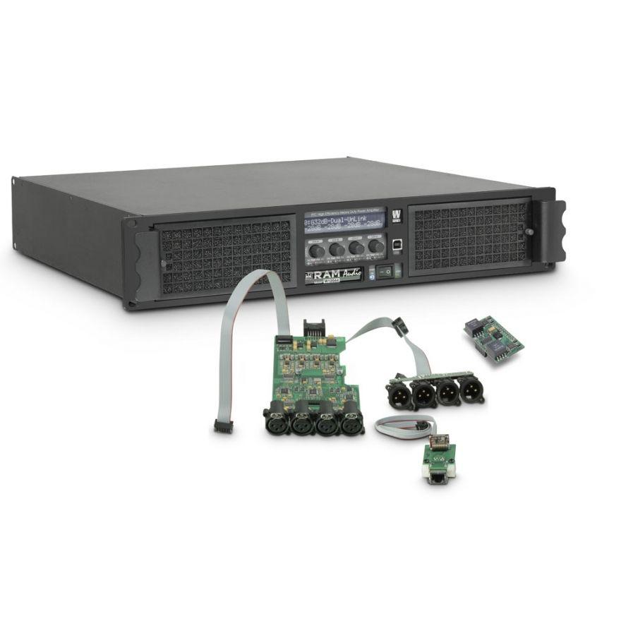 Ram Audio W 12044 DSP E AES - Finale di potenza PA 4 x 2950 W 4 Ohm incl. modulo DSP con ingresso digitale AES/EBU + Ethernet