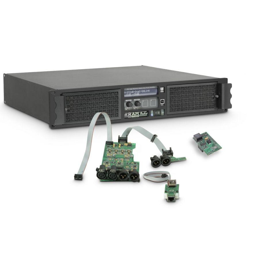 Ram Audio W 6000 DSP E AES - Finale di potenza PA 2 x 3025 W 2 Ohm incl. modulo DSP con ingresso digitale AES/EBU + Ethernet