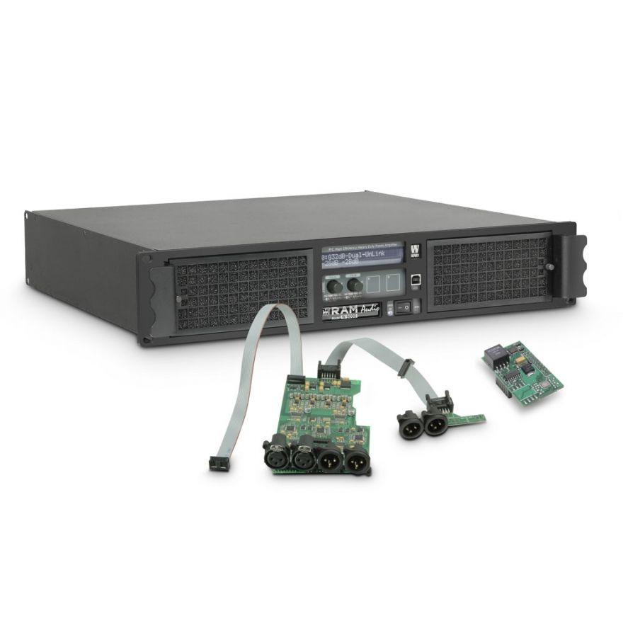 Ram Audio W 9000 DSP AES - Finale di potenza PA 2 x 4400 W 2 Ohm incl. modulo DSP con ingresso digitale AES/EBU