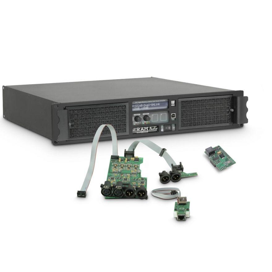 Ram Audio W 9000 DSP E AES - Finale di potenza PA 2 x 4400 W 2 Ohm incl. modulo DSP con ingresso digitale AES/EBU + Ethernet