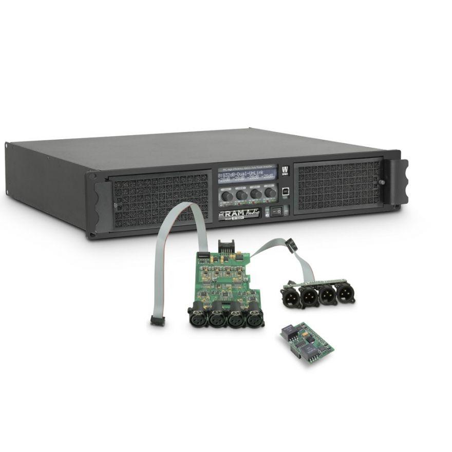 Ram Audio W 9004 DSP AES - Finale di potenza PA 4 x 2260 W 2 Ohm incl. modulo DSP con ingresso digitale AES/EBU