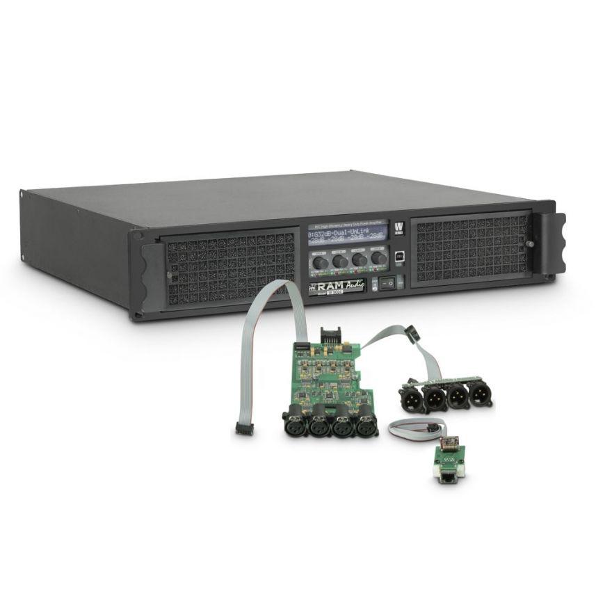 Ram Audio W 9004 DSP E - Finale di potenza PA 4 x 2260 W 2 Ohm incl. modulo DSP + Ethernet