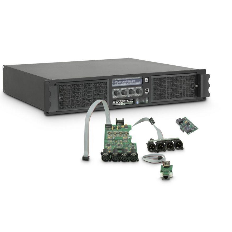 Ram Audio W 9004 DSP E AES - Finale di potenza PA 4 x 2260 W 2 Ohm incl. modulo DSP con ingresso digitale AES/EBU + Ethernet