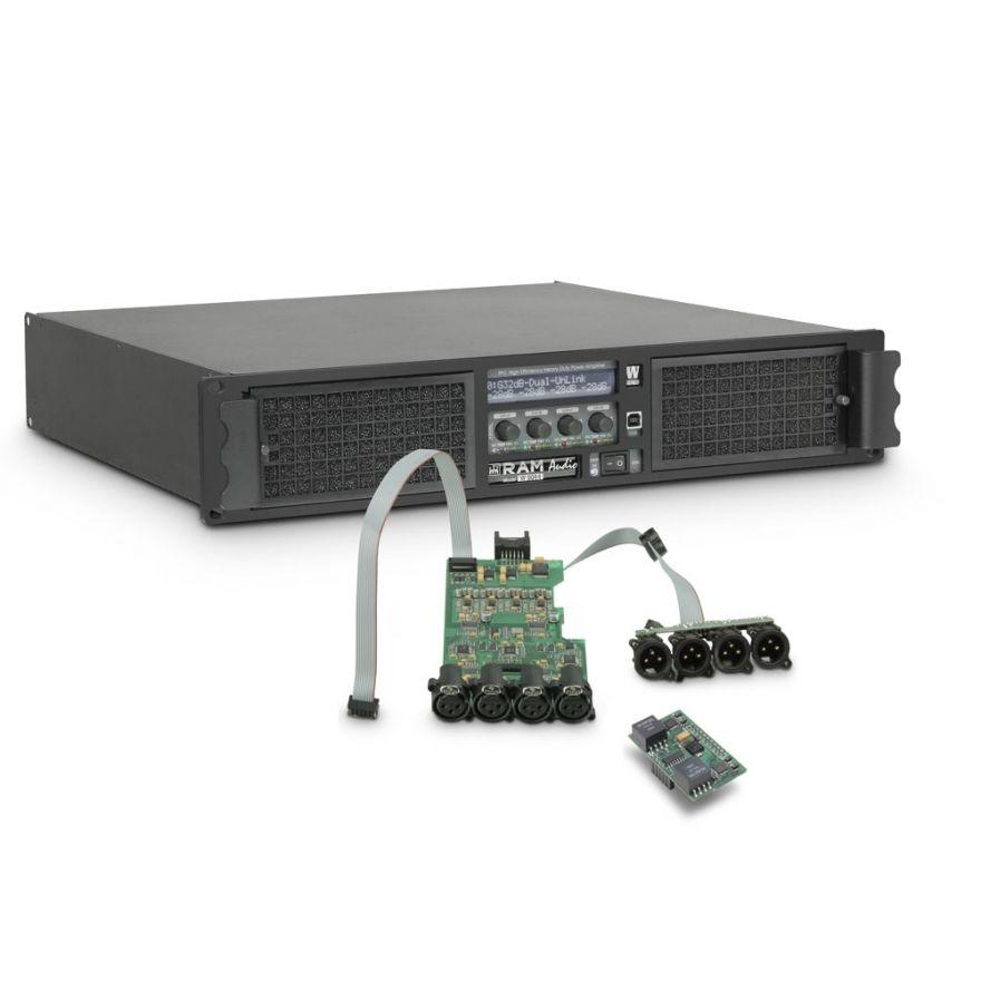 Ram Audio W 9044 DSP AES - Finale di potenza PA 4 x 2200 W 4 Ohm incl. modulo DSP con ingresso digitale AES/EBU