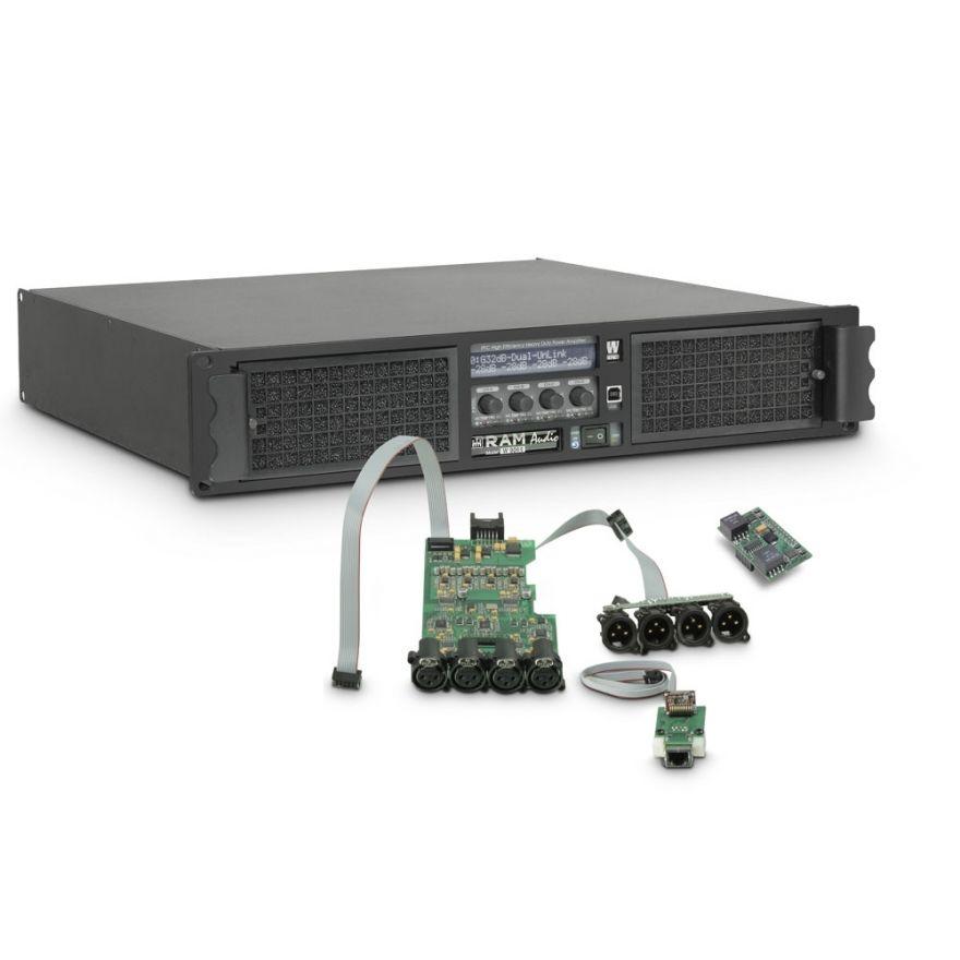 Ram Audio W 9044 DSP E AES - Finale di potenza PA 4 x 2200 W 4 Ohm incl. modulo DSP con ingresso digitale AES/EBU + Ethernet