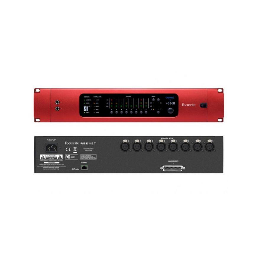 FOCUSRITE REDNET 4 - Preamplificatore Microfonico 8 Canali