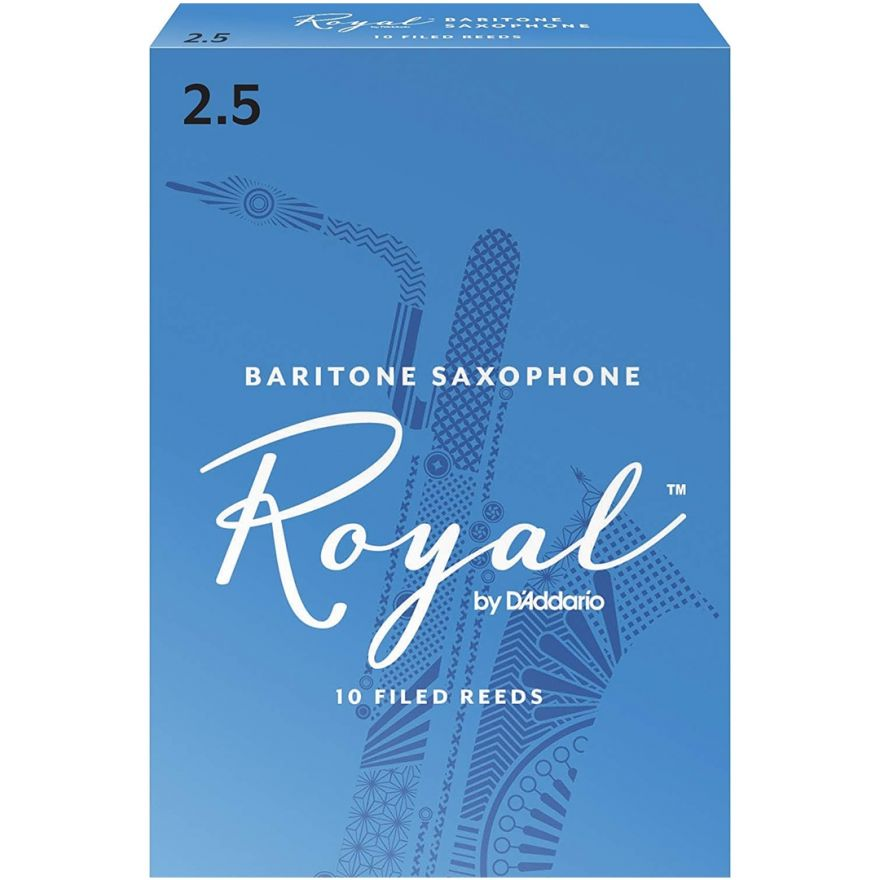 Rico RLB1025 - Ance per Sax Baritono in Mib Royal 2.5 10pz