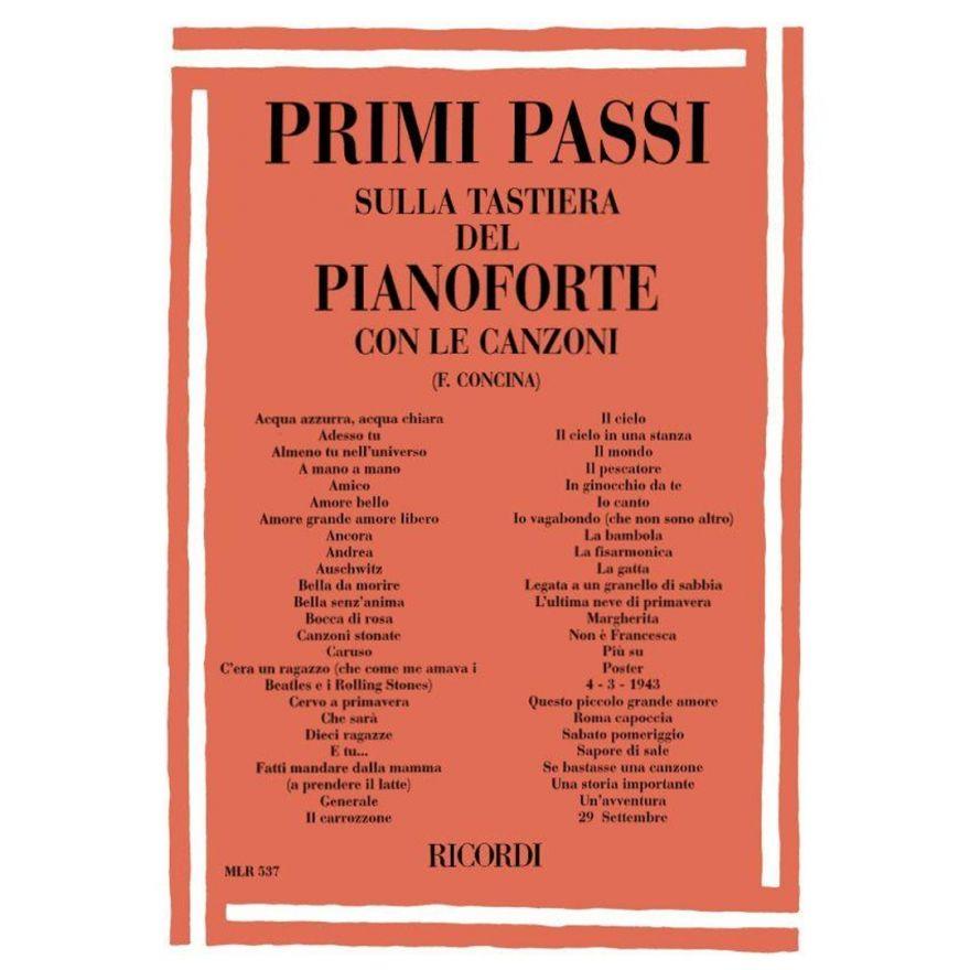 1 Ricordi Primi Passi sulla Tastiera del Pianoforte con le Canzoni