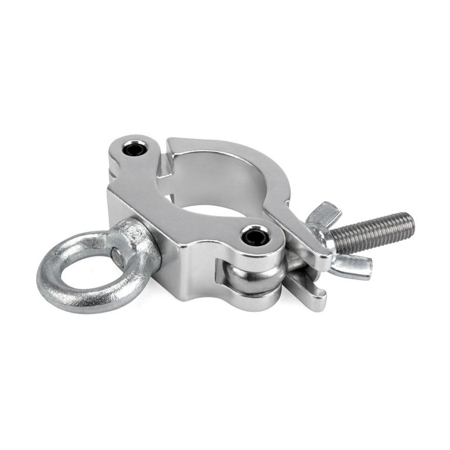RIGGATEC RIG 400 200 085 - Halfcoupler Small Silver with ring max. load 170kg (48 - 51 mm)