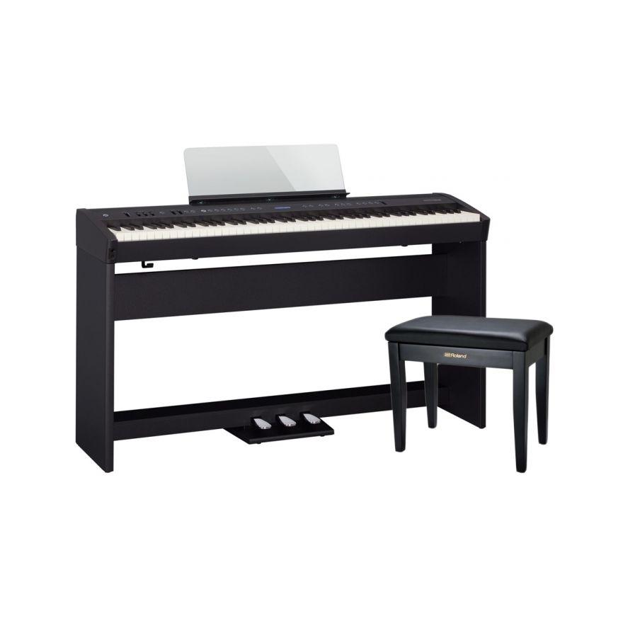 Roland FP 60 BK Set - Pianoforte Digitale / Stand / Pedaliera / Panchetta