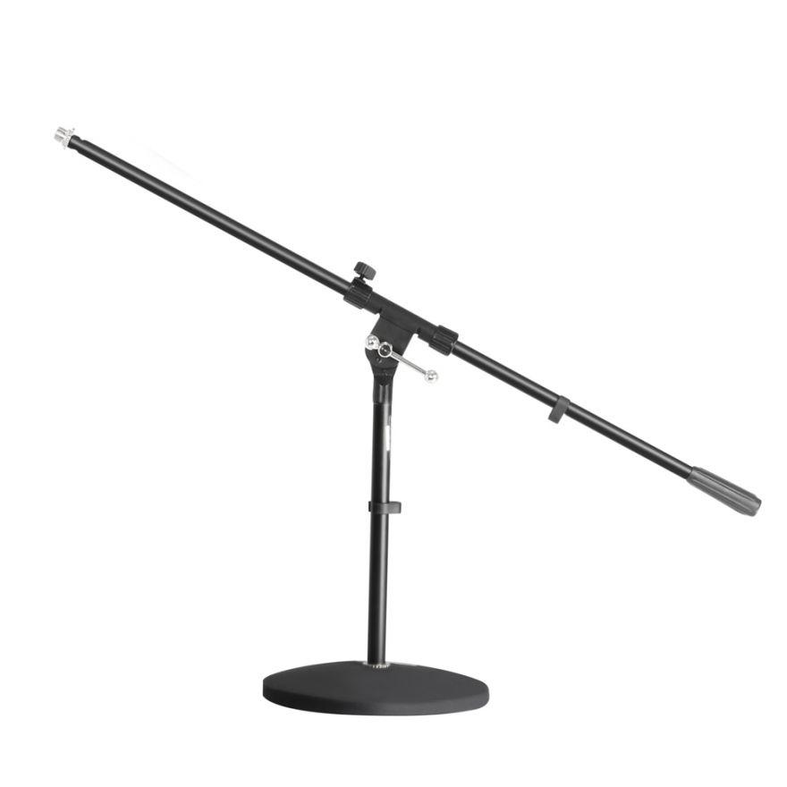 Adam Hall Stands S 7 B - Asta Microfonica con Base tonda e Braccio Orientabile