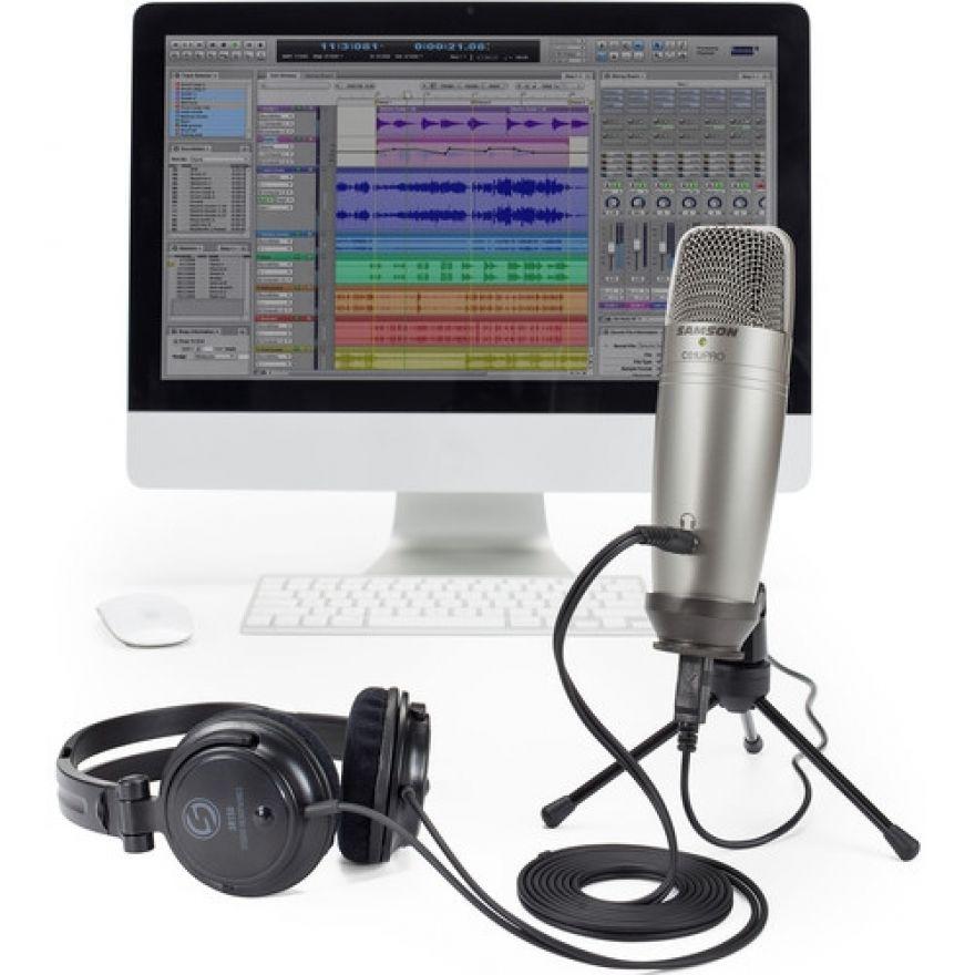 Samson C01U Pro Recording Pack - Microfono da Studio USB con Cuffie