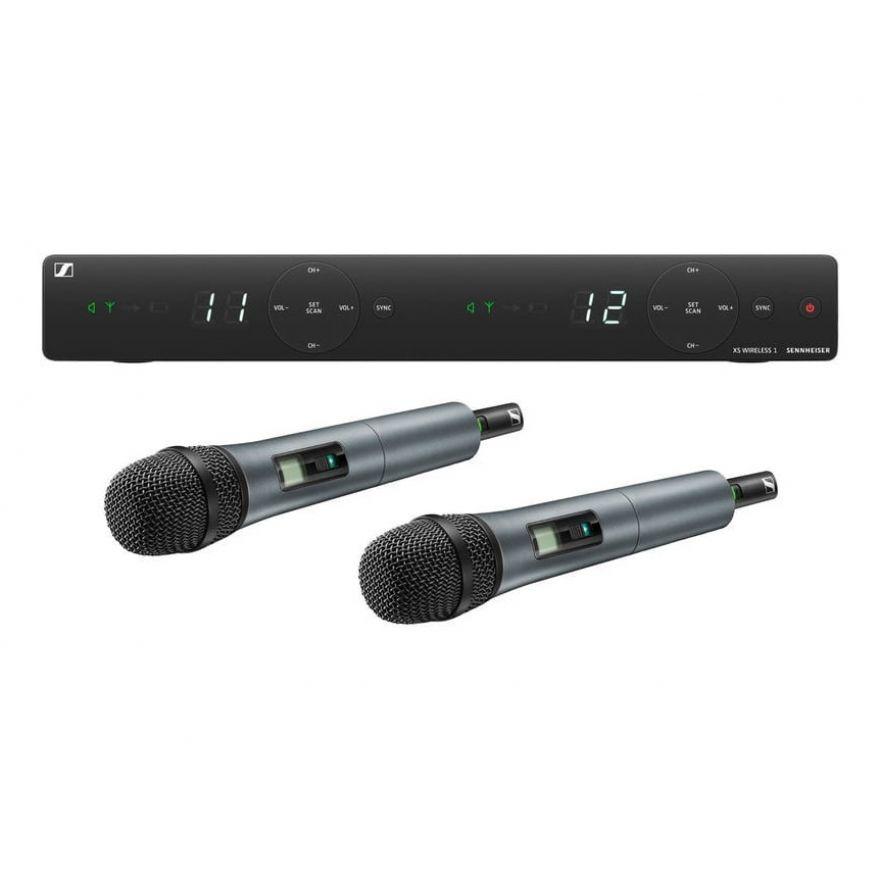 Sennheiser XSW 1-835 Dual Vocal A-Band - Radiomicrofono Doppio UHF