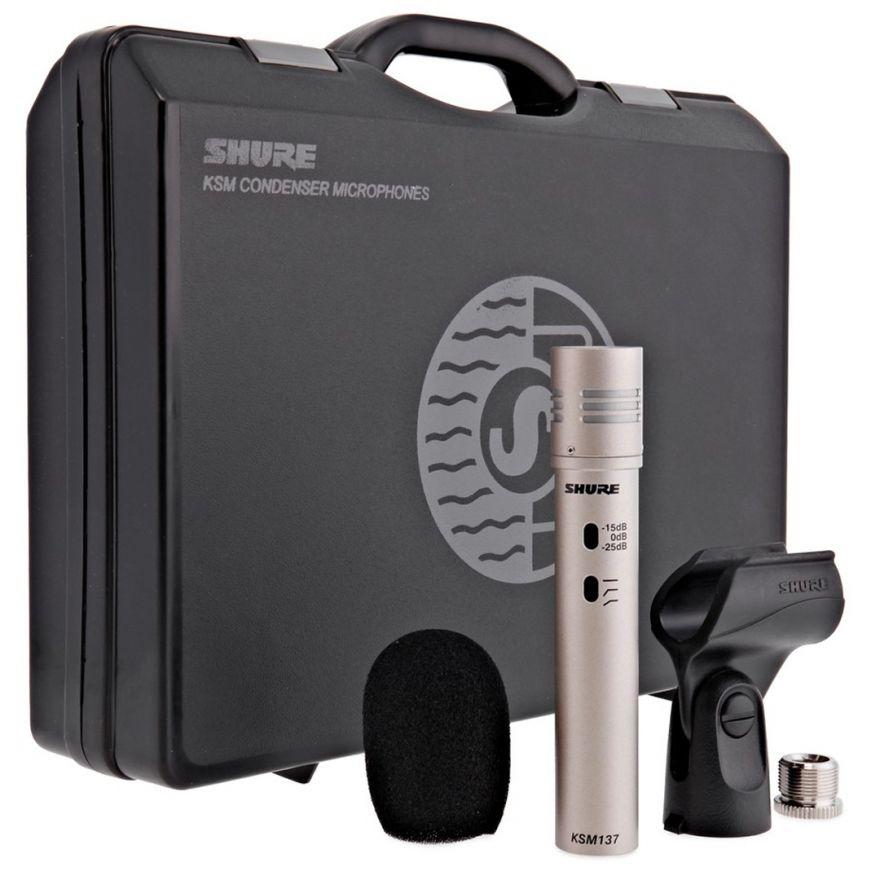 Shure KSM137/SL - Microfono per Strumenti a Condensatore Professionale Champagne