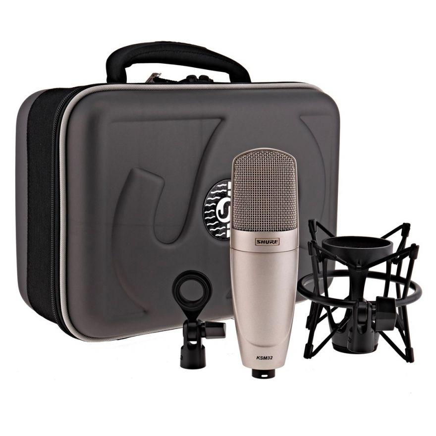 Shure KSM32/SL - Microfono a Condensatore Cardioide Professionale Champagne