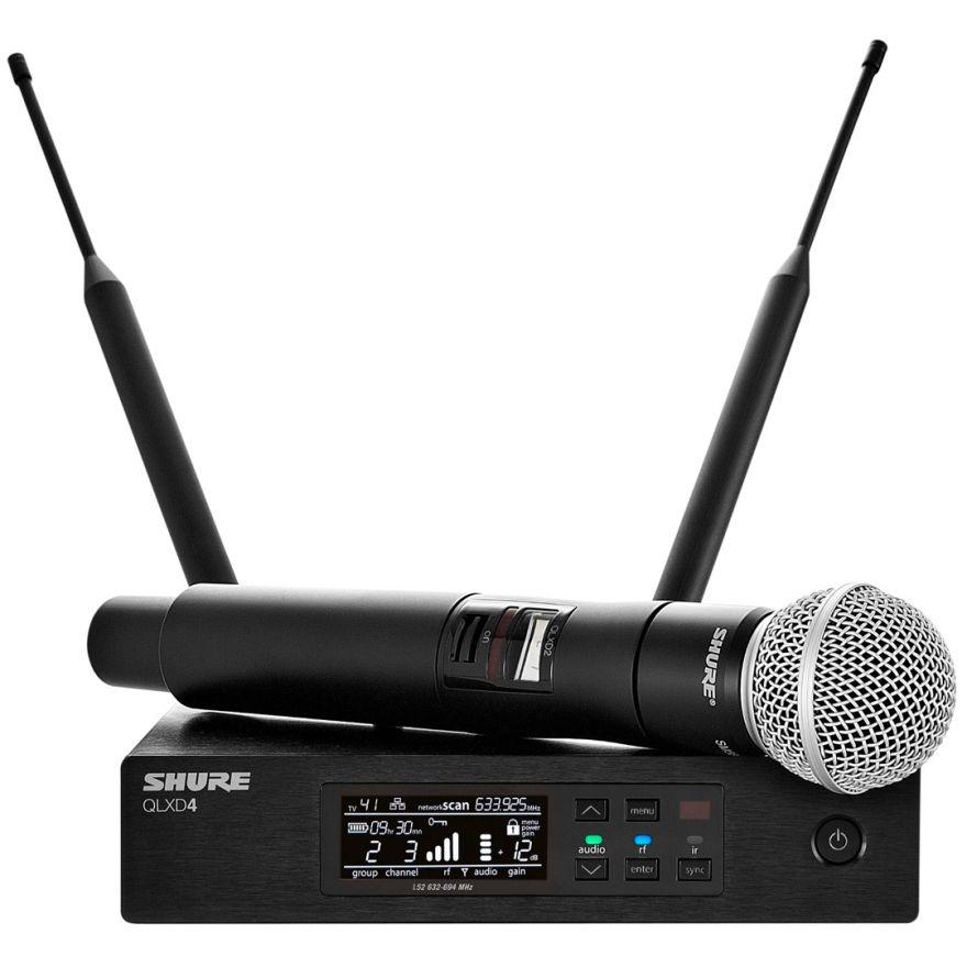 Shure QLXD24E/SM58 G51 - Radiomicrofono UHF con Trasmettitore Palmare