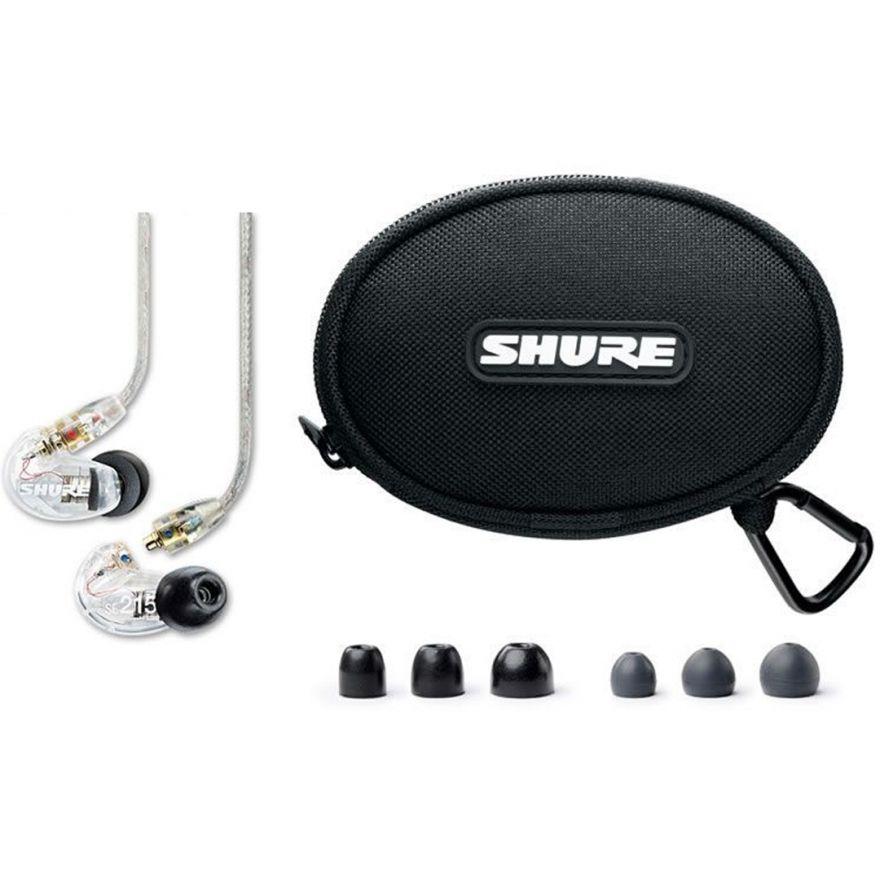Shure SE215 CL-EFS Auricolari Trasparenti MicroDriver Dinamico con Custodia