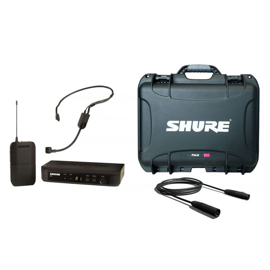 SHURE Pack BLX4 / Case / Cavo Audio Bundle