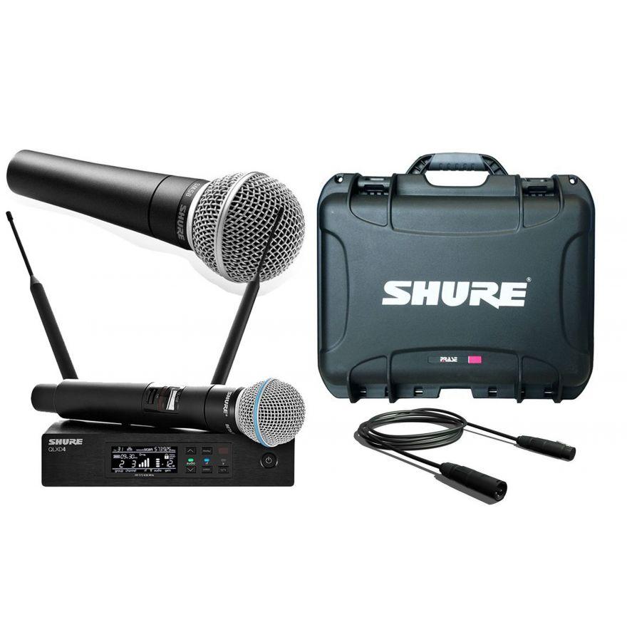 SHURE Pack 2 Microfoni / Valigetta / Cavo Audio XLR/XLR Bundle
