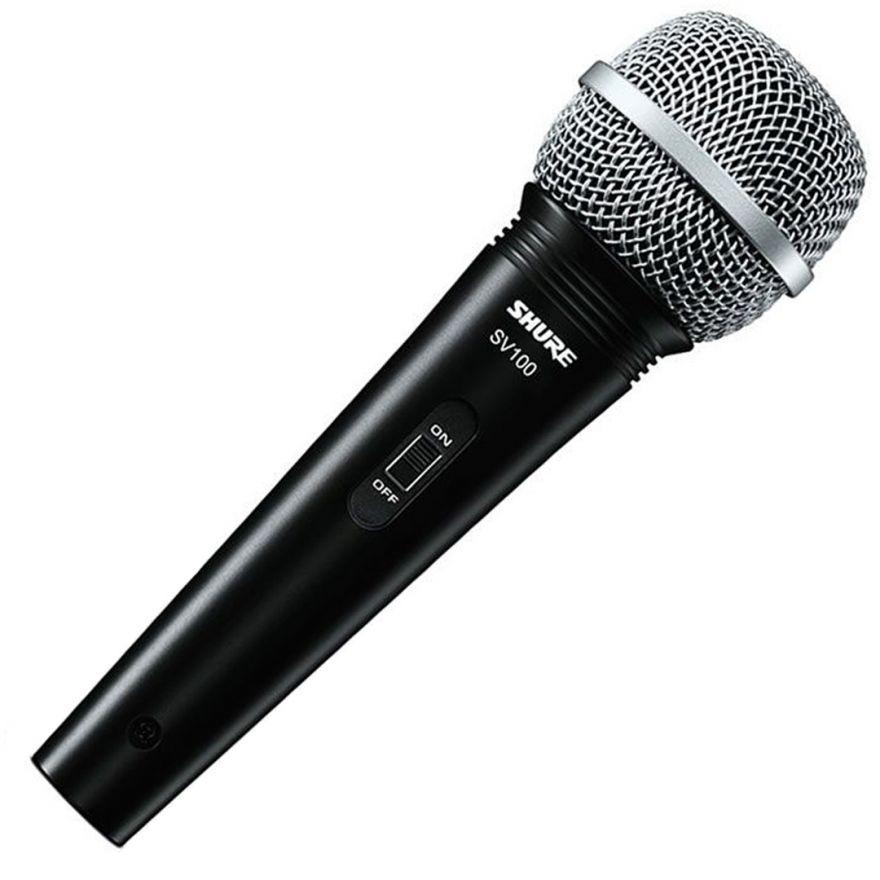 Shure SV 100 - Microfono Dinamico con Cavo per Voce, Conferenza, DJ e Karaoke