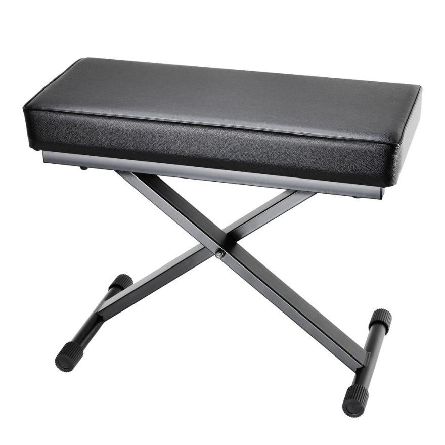 Adam Hall Stands SKT 17 - Banco tastiera ripiegabile con imbottitura ultraspessa