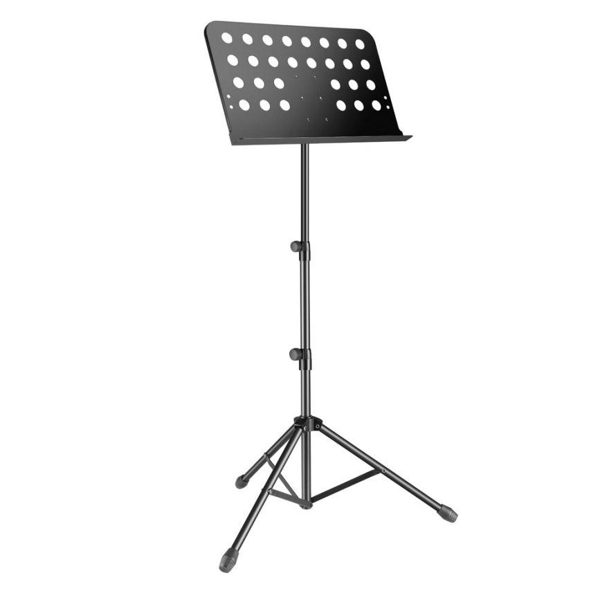 Adam Hall Stands SMS 11 PRO - Leggio estensibile per spartiti musicali, compatto, comprensivo di custodia