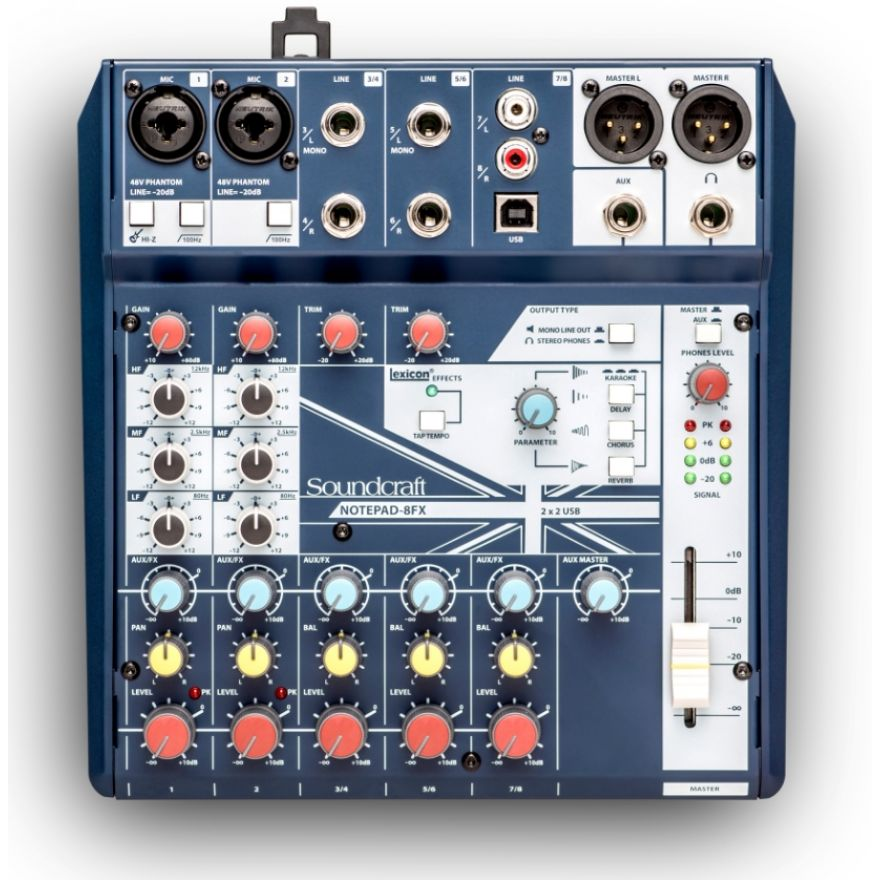 SOUNDCRAFT NOTEPAD 8FX - Mixer Analogico 8 Ch / Effetti