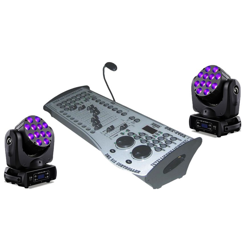 SOUNDSATION Set 2 MHL-10W-12 Teste Mobili / DMX LC200 Bundle