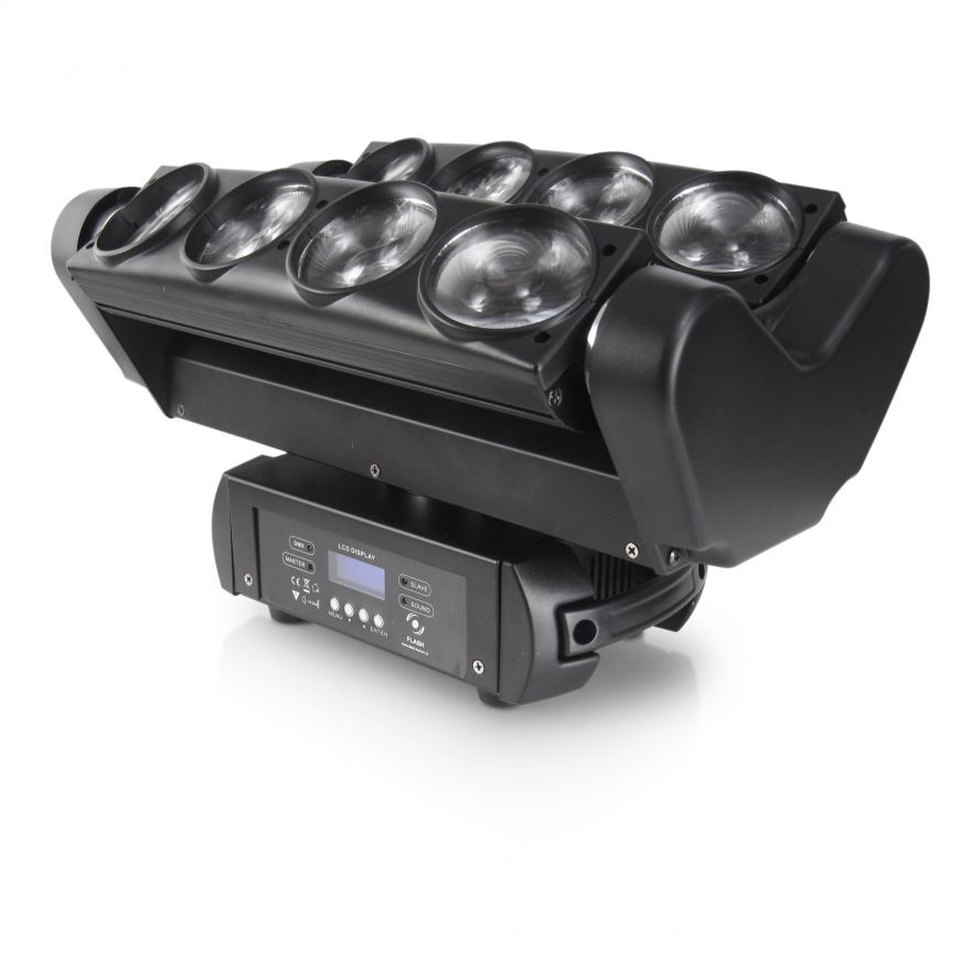 FLASH LED Spyder Moving Head 8x10W CREE 4in1