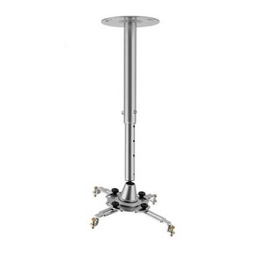 Staffa da Soffitto Telescopica 400-600mm Silver per Videoproiettore