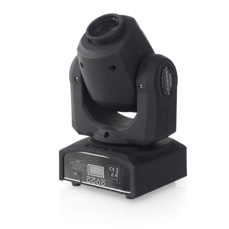 FLASH LED Moving Head 30W SPOT COLOR GOBO