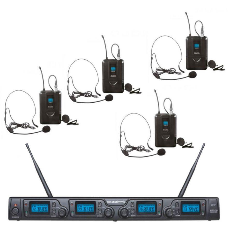 ZZIPP TXZZ642 Set Microfonico UHF / 4 Bodypack