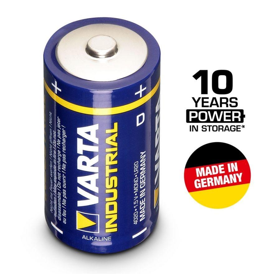 VARTA Batterien Industrial 4020 - Batteria Mono D 1,5 V