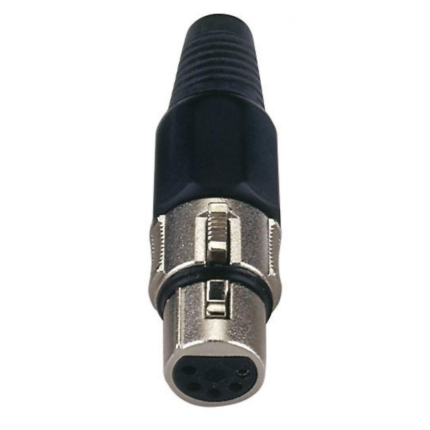 DAP-Audio - XLR 5p. Connector Female - Cappuccio finale nero, femmina