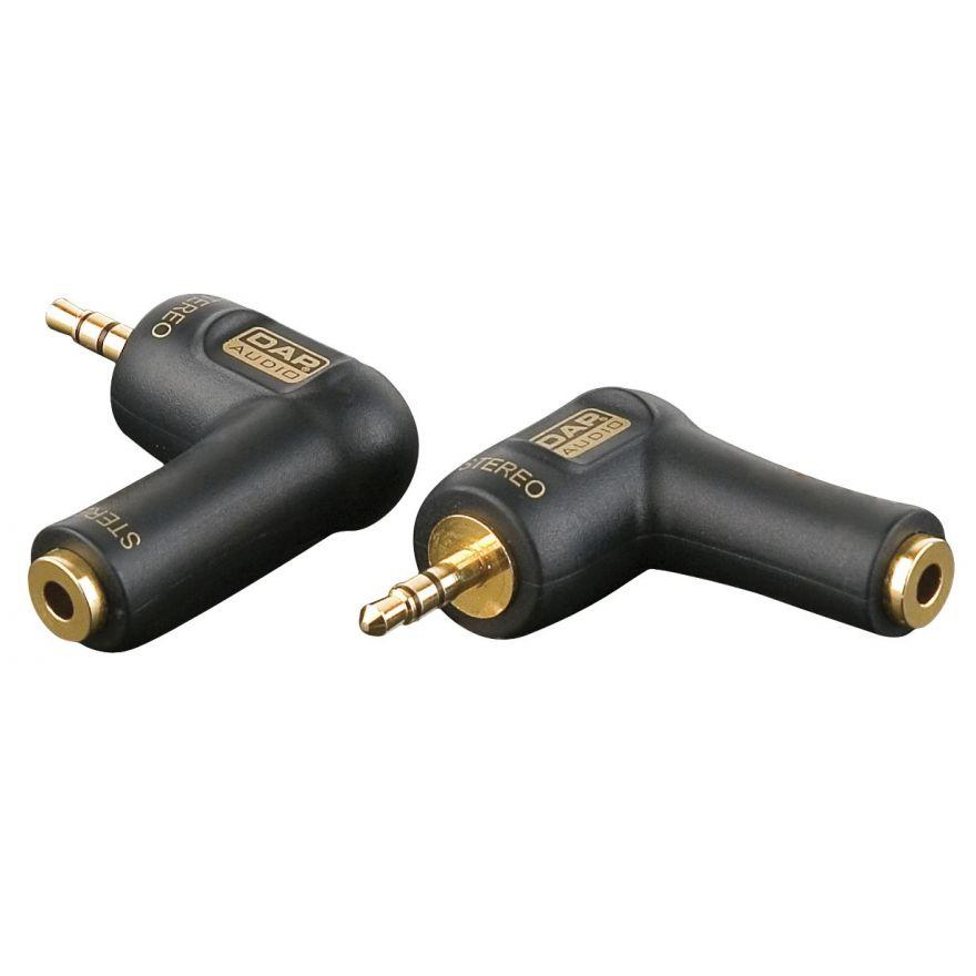 DAP-Audio - XGA08 - Mini Jack/M stereo > Mini Jack/F, 90° - Adapters