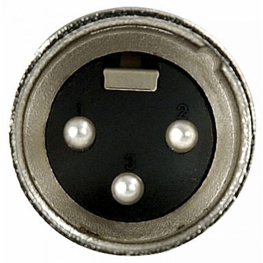 DAP-Audio - XLR 3p. Connector Male, Nickel housing - Cappuccio finale nero