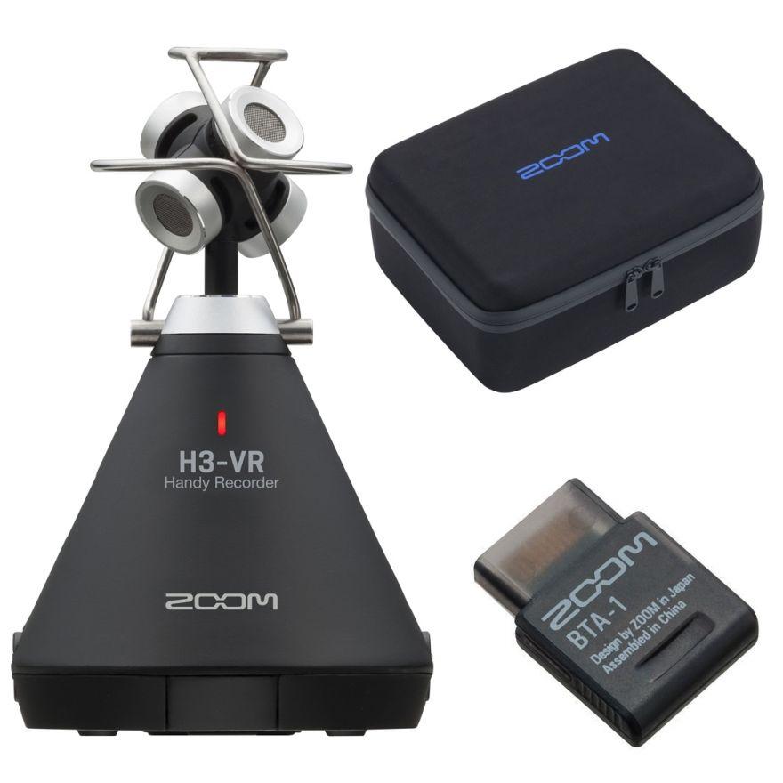 Zoom H3 VR con Adattatore Bluetooth e Custodia