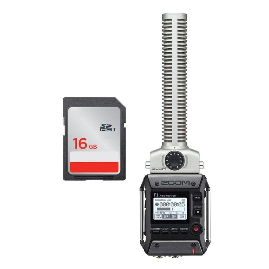 Zoom F1 SP - Registratore Digitale con Scheda SDHC 16 GB