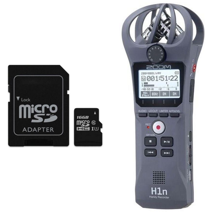 Zoom H1n Grigio - Registratore Digitale con Scheda microSD 16 GB