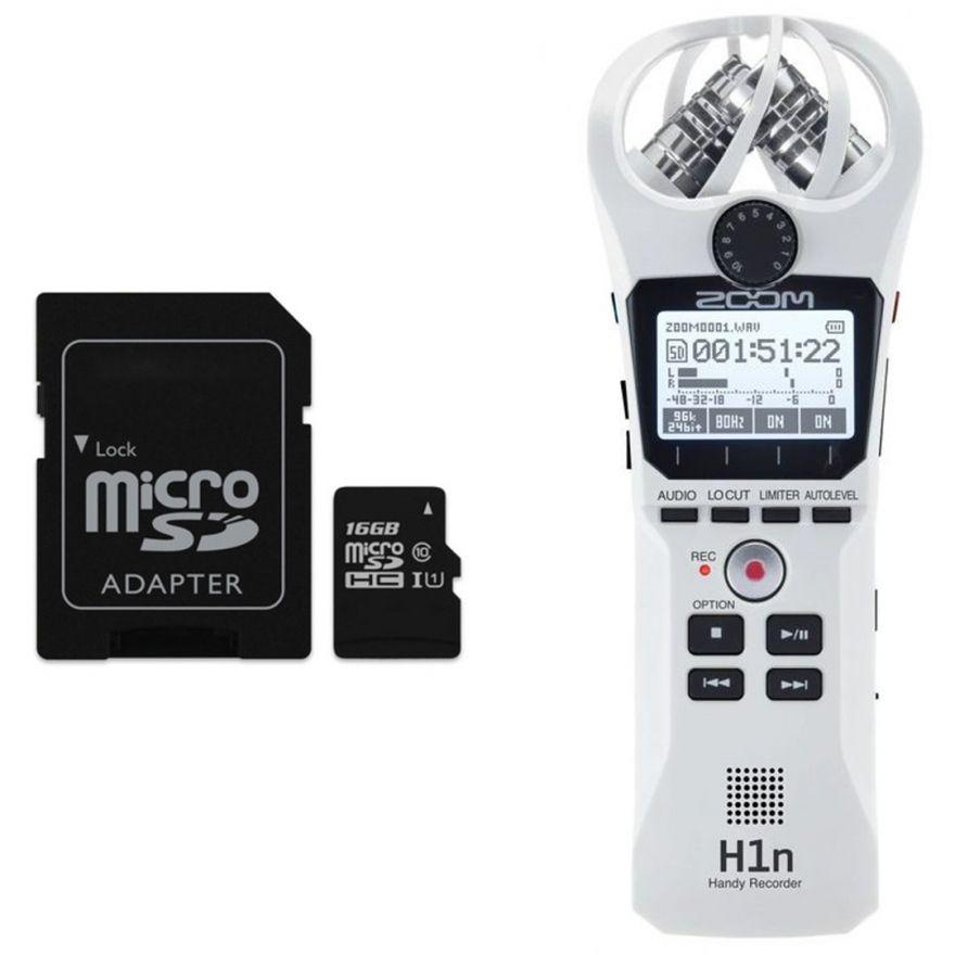 Zoom H1n Bianco - Registratore Digitale con Scheda microSD 16 GB