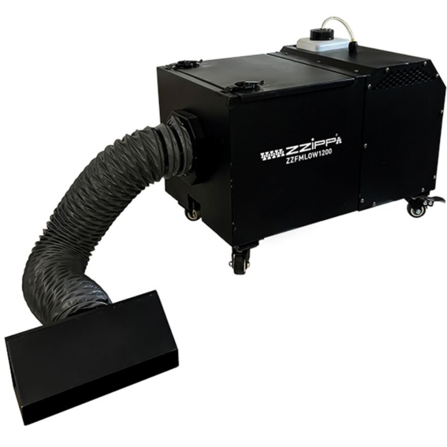 ZZIPP LOW FOG MACHINE 1200W Produce fumo denso che rimane a terra