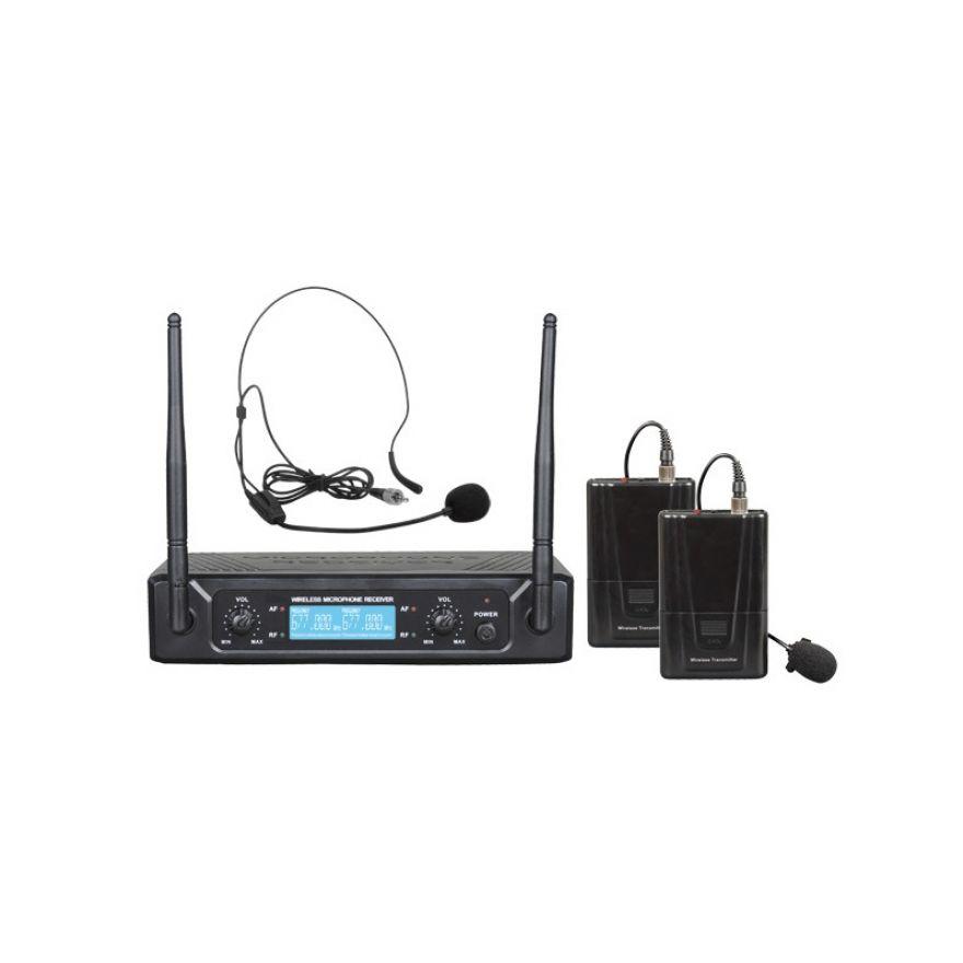 ZZIPP TXZZ522 - Doppio Radiomicrofono UHF ad Archetto