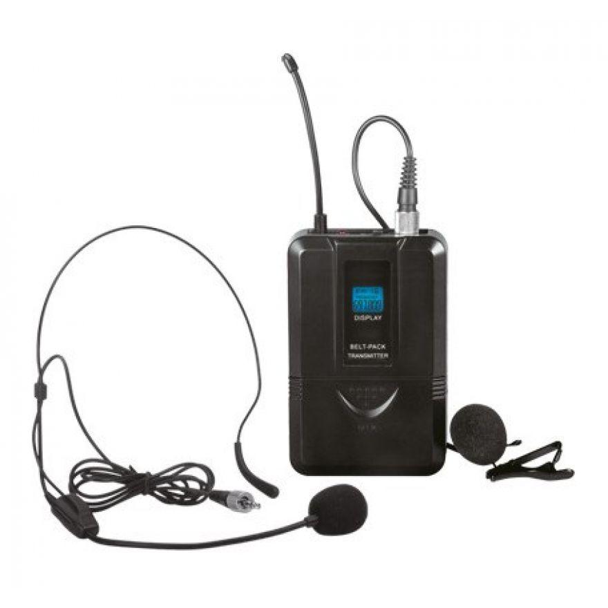 Trasmettitore Bodypack con Microfono Archetto e Pulce