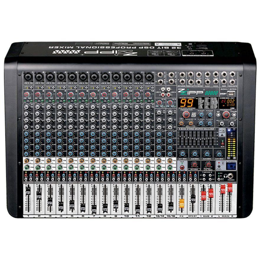 ZZIPP ZZMX16PRO - Mixer Professionale 16 Canali con Multieffetto DSP