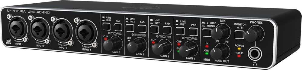BEHRINGER UMC404 HD Interfaccia Audio midi/usb 24 bit 4x4 preamp maidas