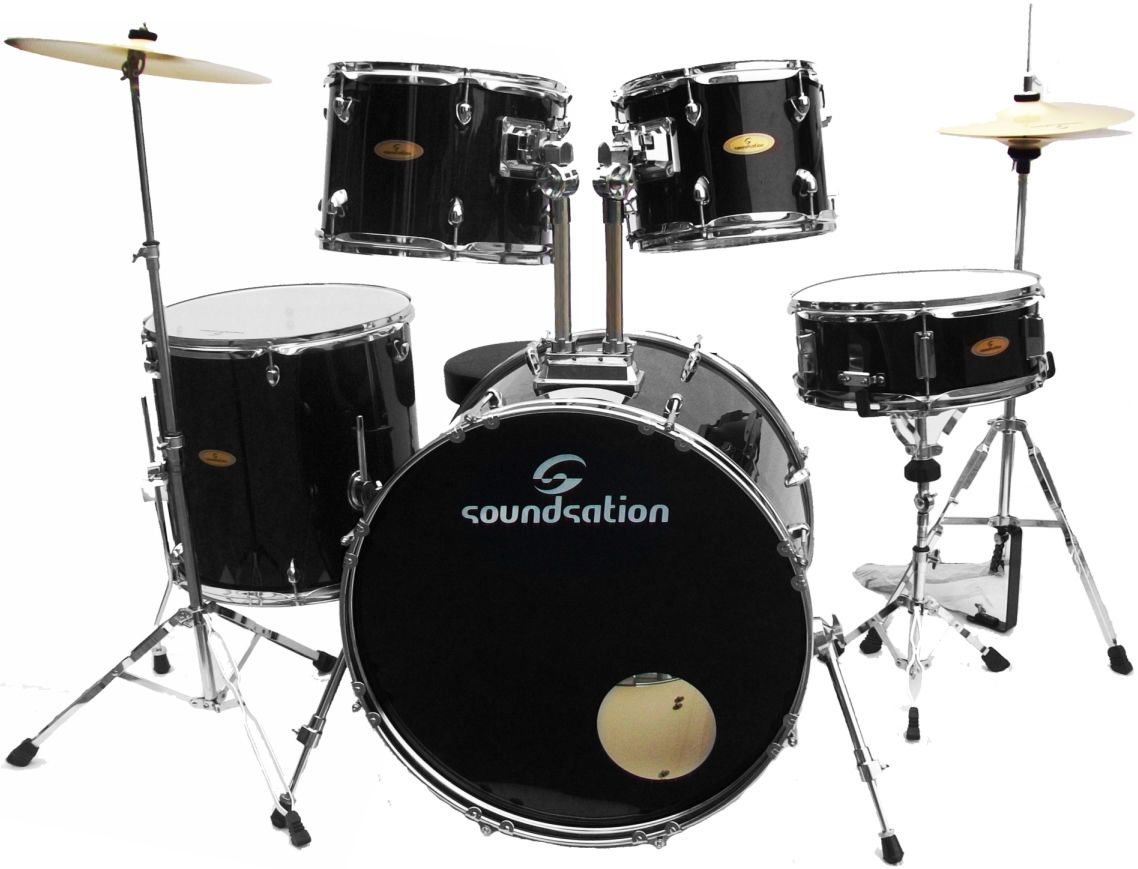 Soundsation sk bk batteria acustica completa piatti sgabello