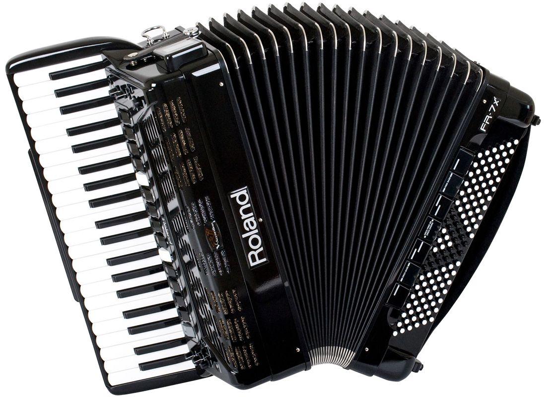 Roland fr7x bk black v accordion fisarmonica dig musical store 2005